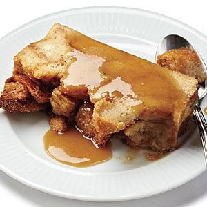 Bread Pudding with Salted Caramel Sauce | MyRecipes.com