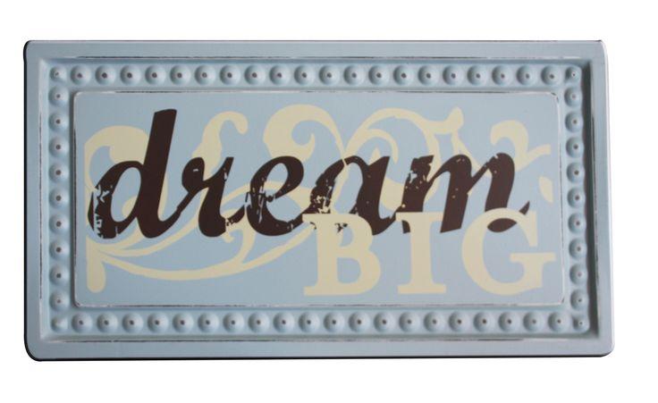 Home / Wall Decor - Mini Sign - Dream Big ....
