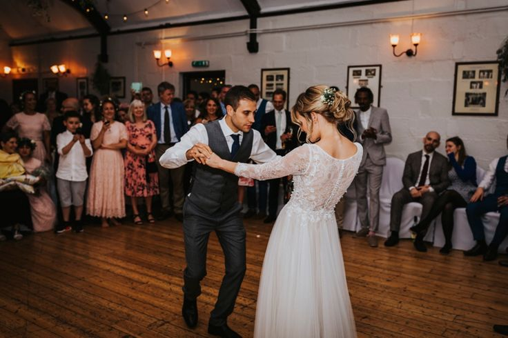 First dance time. Photo by Benjamin Stuart Photography #weddingphotography #firstdance #brideandgroom #dance #weddingday #partytime