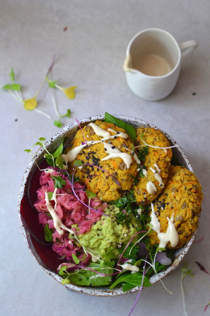 vegan and gluten-free lentil patties