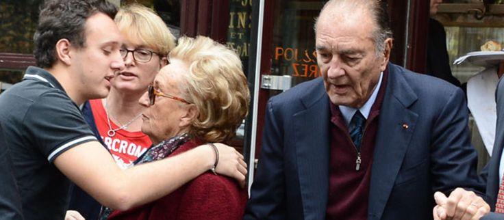 Jacques Chirac s'offre un dejeuner en famille