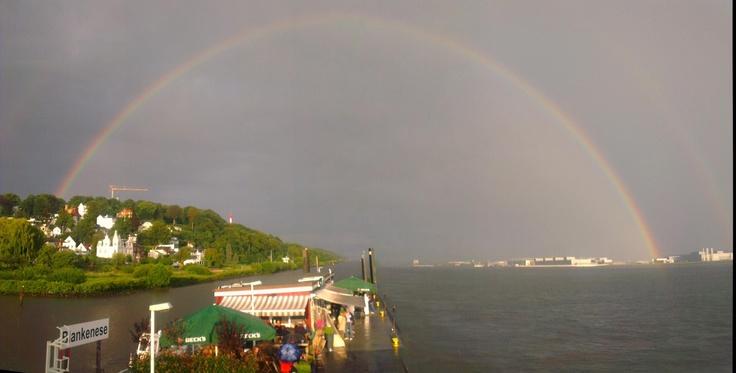 Rainbow over Hamburg, 03.08.2012