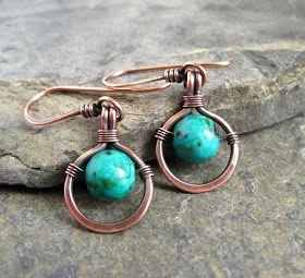 Simple, beautiful, beaded, wire earrings.