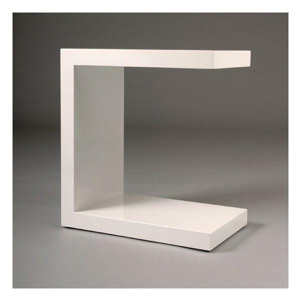 Table De Chevet Minimaliste Et Design En Laque Blanche Tres