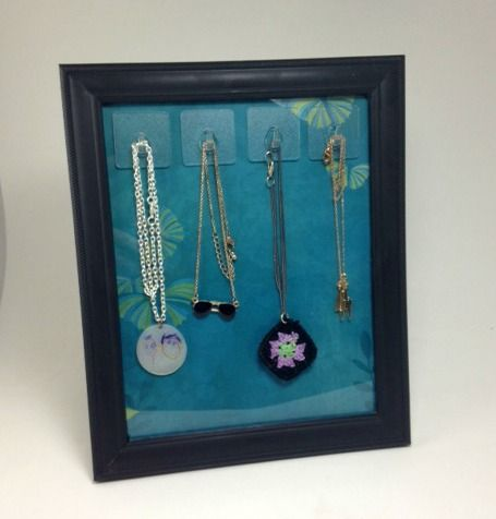 Diy Necklace Stand Using A 1 Frame An Easy Craft For