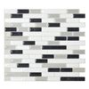 Shop Smart Tiles 6-Pack White Linear Mosaic Composite Vinyl Wall Tile (Common: 10-in x 10-in; Actual: 9.1-in x 10.2-in) at Lowes.com