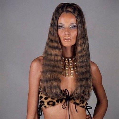 Veruschka wearing a leopard print bikini, New York, 1970. Photo by Franco Rubartelli.
