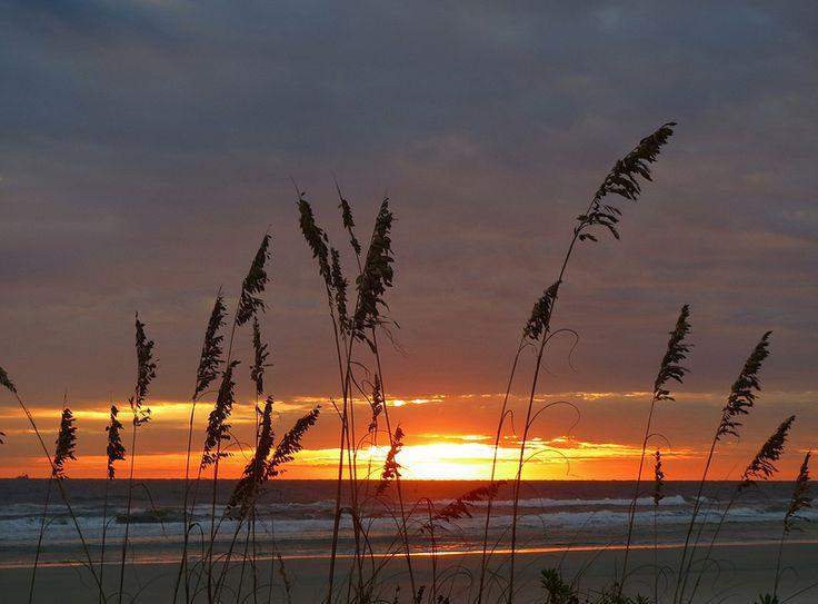 overcast autumn sunrise, anastasia island