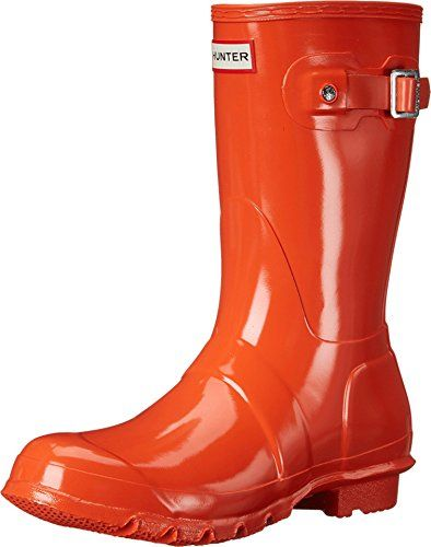 Hunter Original Gloss Short Rain Boots 10 Tent Red *** You can find more details by visiting the image link.