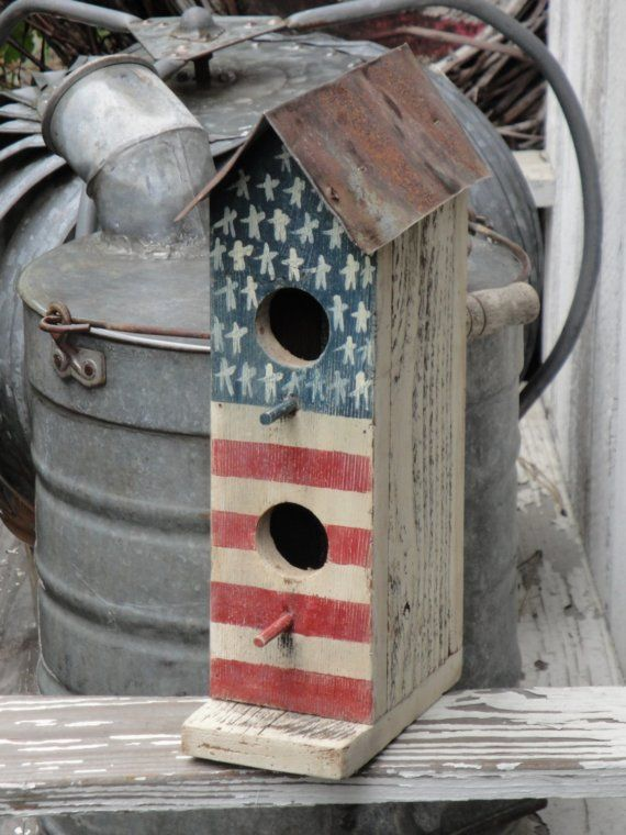 Handpainted Two Hole Primitive Americana by kittredgemercantile