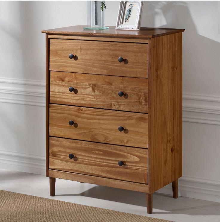 Best Classic Mid Century Modern 4 Drawer Solid Wood Dresser In 400 x 300