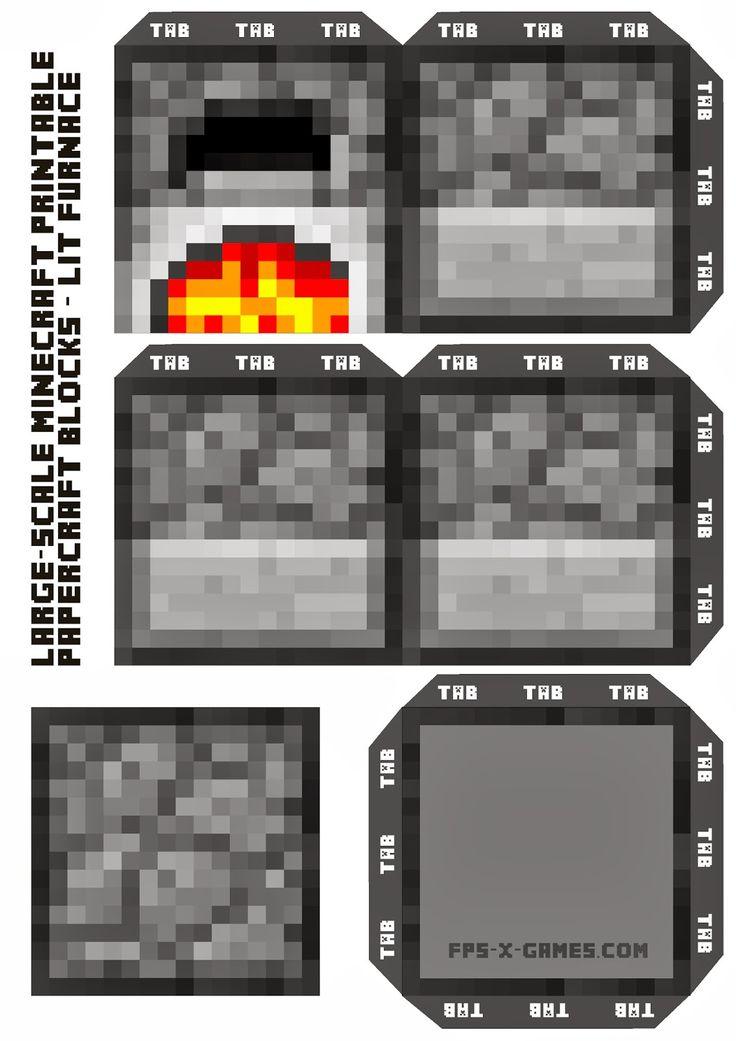 Картинки майнкрафт печка из бумаги