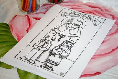Year 1--St. Katharine Drexel coloring pages and more activities