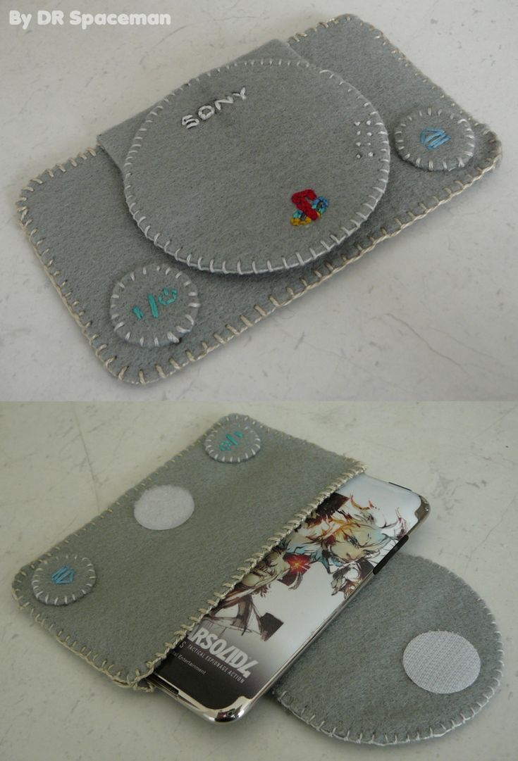 PSone ipod touch felt case by =DRSpaceman on deviantART