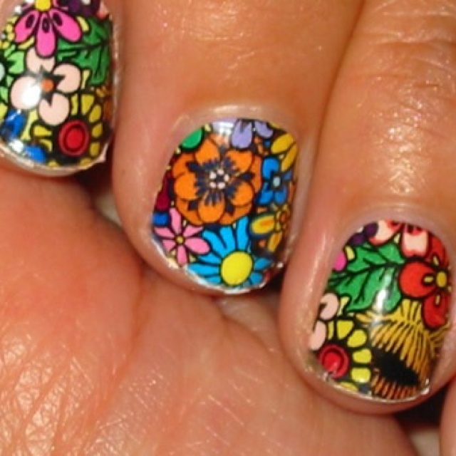 Best 25 funky nail designs ideas on pinterest funky nails floral nail art design for short nails prinsesfo Choice Image