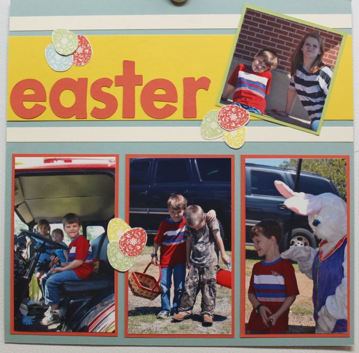 Stacy's Stampin' Spot: Two Page Easter Fun Layout Stampin up
