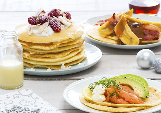 You can't go wrong with these three ways with Pancakes! Perfect for brunch, lunch or as a tasty dessert.