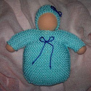 Handmade, eco-friendly wool baby Waldorf inspired