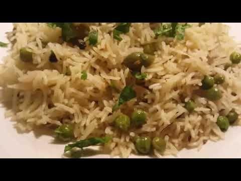 Matar Pulao Peas Rice Pilaf Pulov Pakistani Indian (Food Recipe In Urdu)
