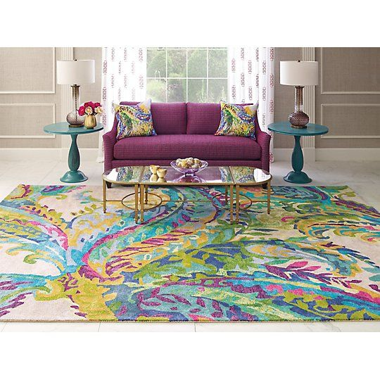Galleria Rug by Company C. $545.00 - $4,295.00 (9' X 13')  100% Hand-spun bamboo viscose, hand-tufted, cut pile. Made in India. GoodWeave certified.