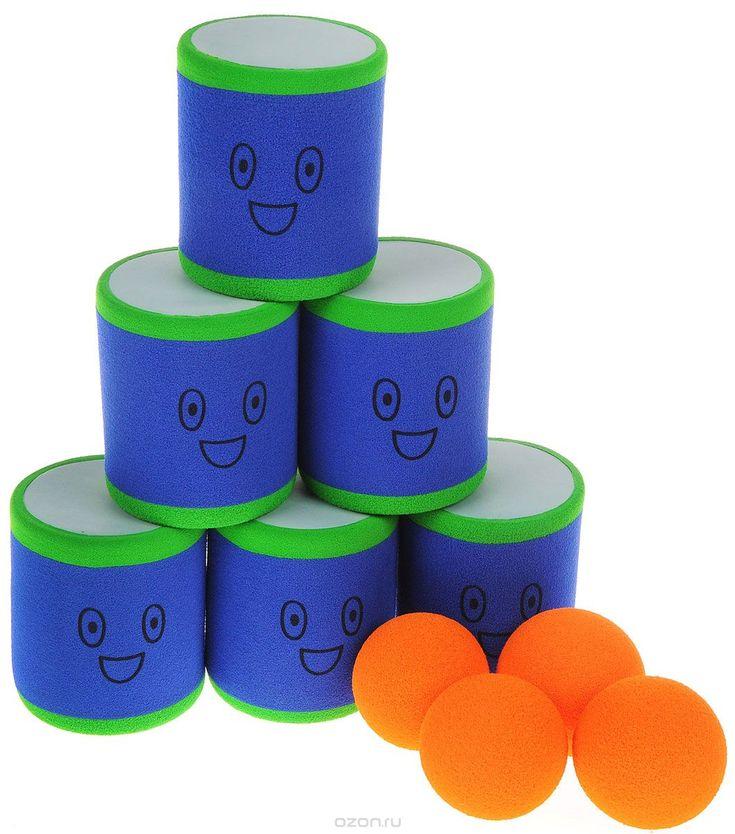 Safsof Игровой набор Городки цвет зеленый голубой оранжевый