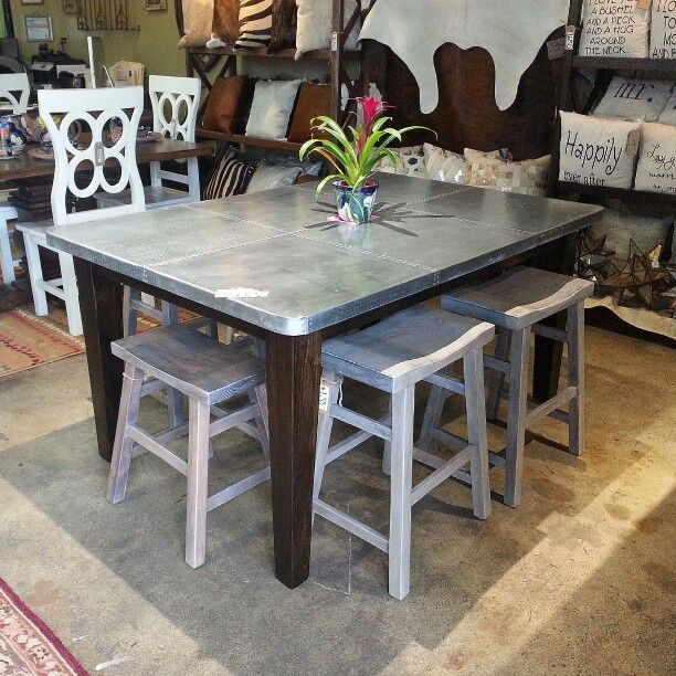 Zinc Table From BARRIO Antiguo Available In Houston Texas 77007 Contact Us  Directly For Custom Orders