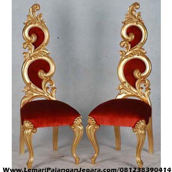 Jual Kursi Teras Ukiran Warna Emas desain Kursi Teras Model Daun dengan Warna Cat Emas Jock Warna Merah Model Lain Kursi Teras Minimalis, kursi Teras Bundar
