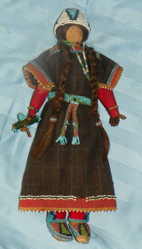 19th Century Native American Cloth Girl Doll