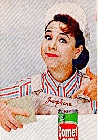 Josephine the Plumber with Comet Cleanser
