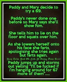 Paddy and mary try 69 joke - http://jokideo.com/paddy-and-mary-try-69-joke/