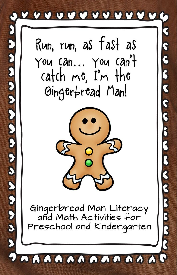 "Math and Literacy activities to go along with the ""Gingerbread Man"" story"