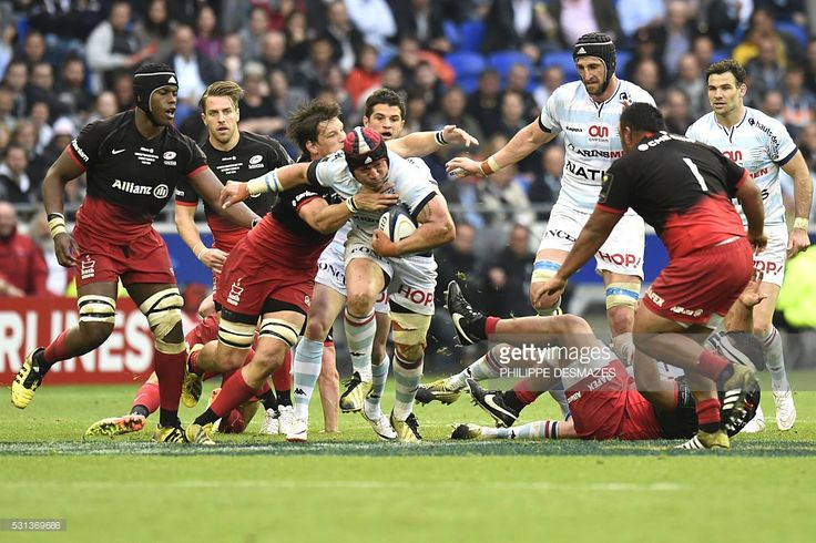 Racing 92's New Zealander flanker Chris Masoe runs with the ball during the European Champions Cup final rugby union match between Racing 92 and Saracens at the Parc Olympique Lyonnais in Decines-Charpieu, near Lyon, southeastern France on May 14, 2016.