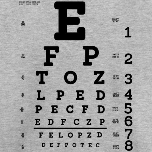 Eye Test Chart Toddler Premium T Shirt Amazon Merch Eye Test