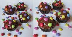 Schoko Muffins mit Smarties