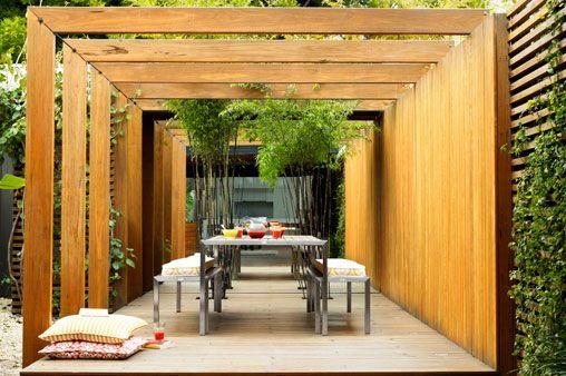 Modern uteplats, terrass, terrace pergola.House and garden magazine