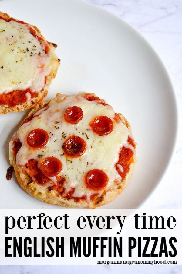 Diese englischen Muffin-Pizzen sind nie feucht und ein einfaches, kinderfreundliches Rezept …