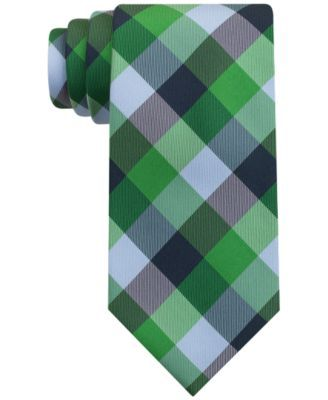Modern design. Add pops of color and pattern with this tartan silk tie from Tommy Hilfiger. | Silk | Dry clean | Imported | Tommy Hilfiger tartan silk tie | Classic | 3 1/4'' wide | Web ID:1485591