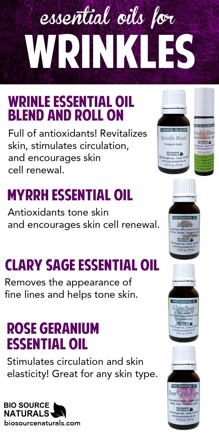 Use these essential oils in the fight against wrinkles! #aromatherapy