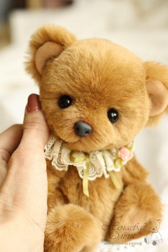 Artist Teddy Bear handmade Basia.