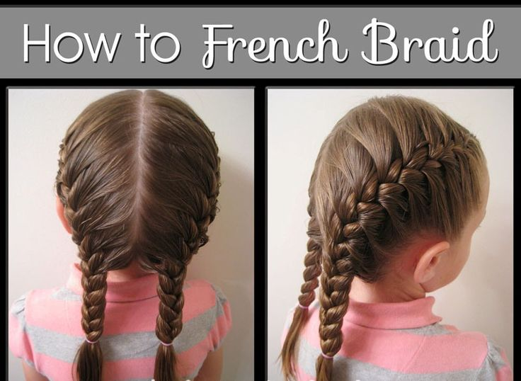 French, Hair Steps And Braid Hair On Pinterest