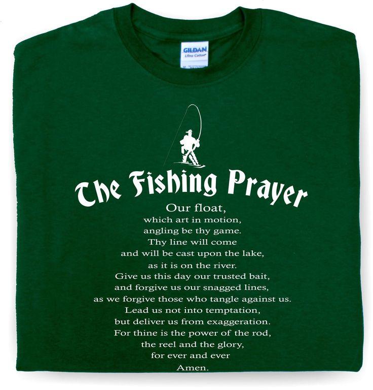 Details about mens funny tshirt fishing prayer teeshirt