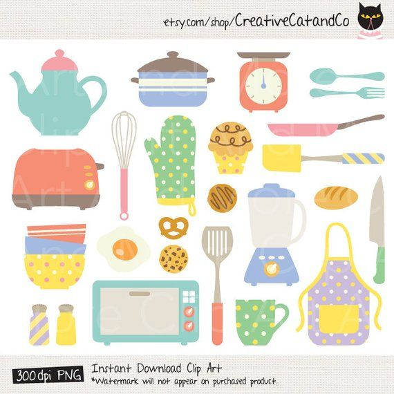Cooking Tools Clipart Cute Kitchen Items Kitchen Tools Chef