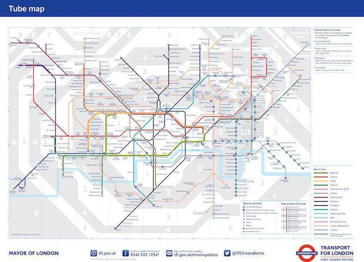 Best London Underground Zones Ideas On Pinterest Street - London map of zones