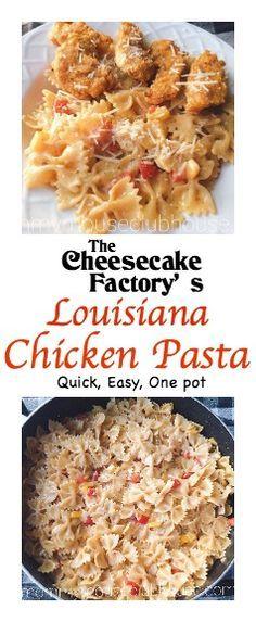 Hearty and flavorful one pot copycat recipe of The Cheesecake Factory's Louisiana Chicken Pasta. Creamy Cajun Chicken Pasta!