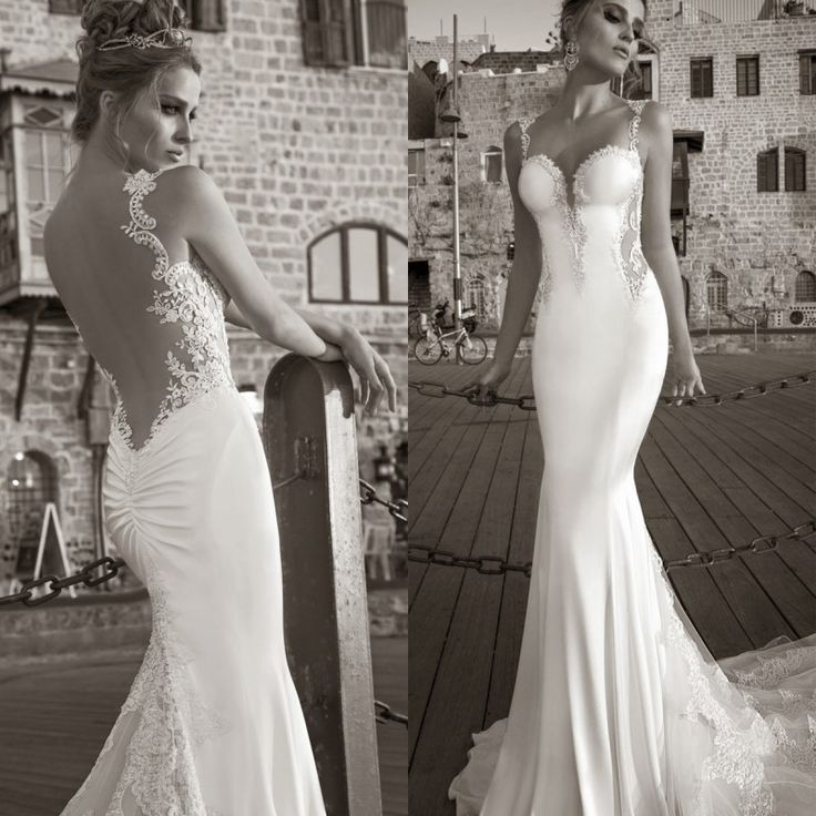 sexy open back lace wedding dress – Google Search