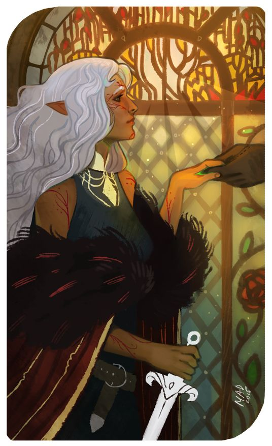 Oh, so many arts and gifts needed to be drawn in this month >_< Lavellan tarot card for wintermoons. Thank you again!