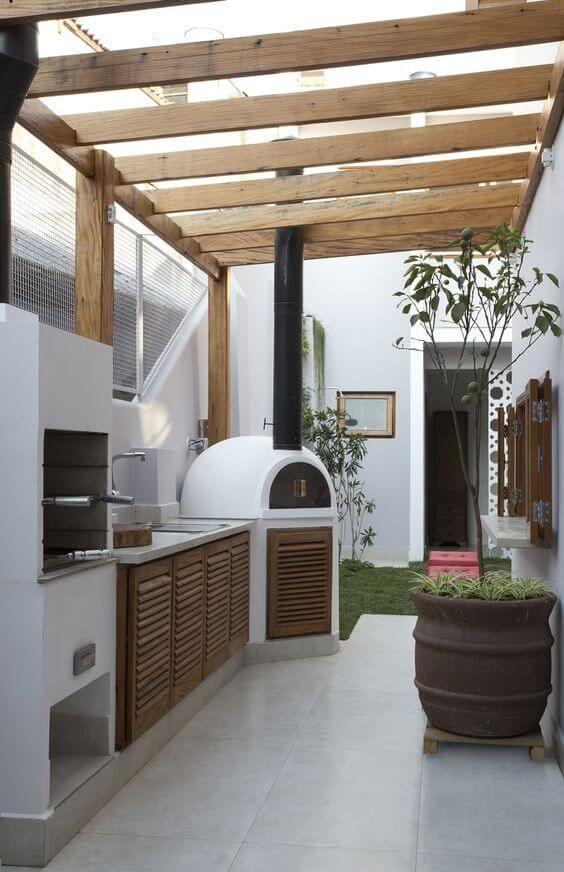 edicula gourmet interior com forno