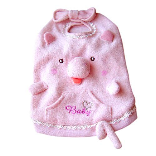 $8.10-$14.00 One piece pig tank top dog costume apparel has a squeaker nose! Easy to wear pull on design with velcro bow loop at neck.
