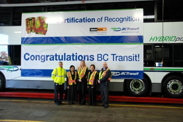 #BCTransit wins COR Award from #WorkSafe BC.