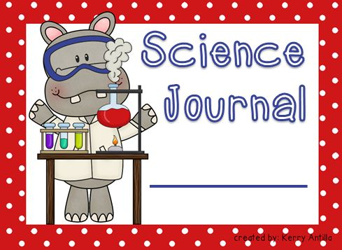 *FREE* Science Journal Labels- type your kiddos' names right on them!